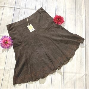 NWT June (Anthropologie) Suede Skirt